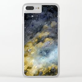 Gold moonshine Clear iPhone Case