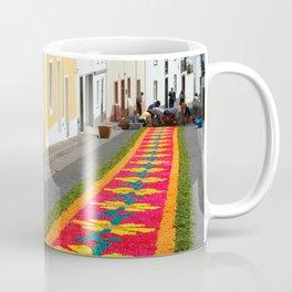 Making flower carpets Coffee Mug