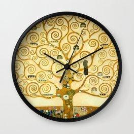 """Gustav Klimt """"Tree of life"""" Wall Clock"""