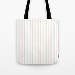 Pastel orange green watermelon modern stripes pattern Tote Bag