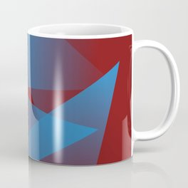 Floating blue fragments Coffee Mug