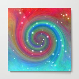 Colored Swirl in the Sky Metal Print