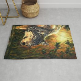 Wolf Painting - Moment Rug