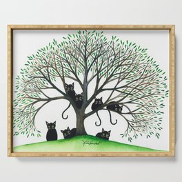 Borders Whimsical Cats in Tree Serving Tray