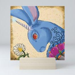 Unicorn Bun Mini Art Print