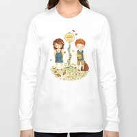 school Long Sleeve T-shirts featuring Back to School by Teagan White