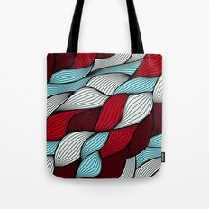 Red blue knit Tote Bag