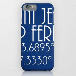 Saint Jean Cap Ferrat Latitude Longitude iPhone Case