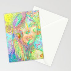 Psychedelic Girl Stationery Cards