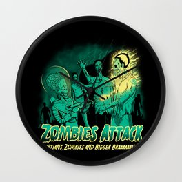 Zombies Attack Wall Clock
