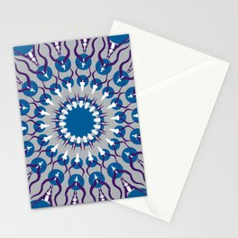 HORN PRINT blue Stationery Cards