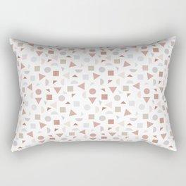 geometric terrazzo Rectangular Pillow