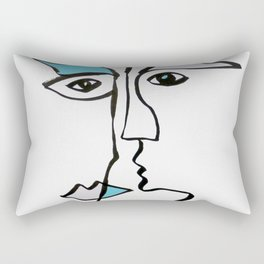 Portrait 3 Rectangular Pillow