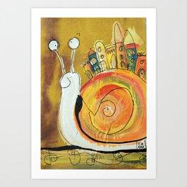 Happy Snail Art Print