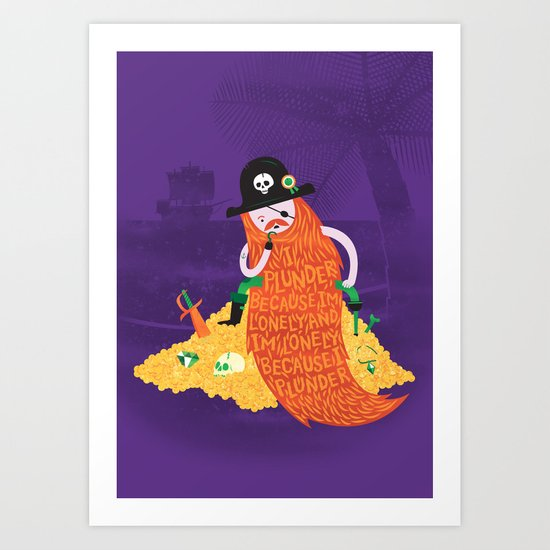 Piratical cycle Art Print