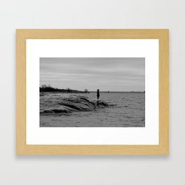 lady by the lake Framed Art Print
