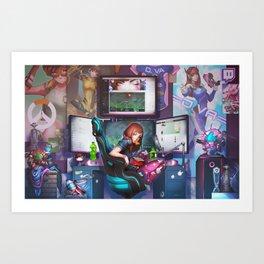 D.Va Art Print