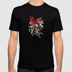 Branch of mistletoe MEDIUM Mens Fitted Tee Black