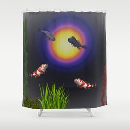 Light Board Icarus Shower Curtain