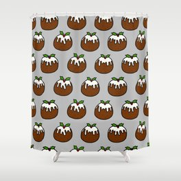 Xmas Puddings Shower Curtain