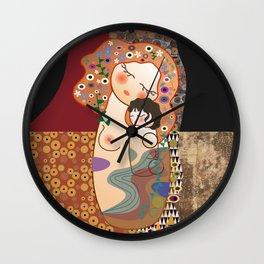 Kokeshi Mother&child Wall Clock