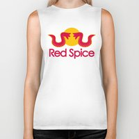 spice Biker Tanks featuring Red Spice by Optimapress
