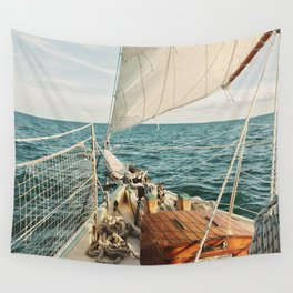 Open Ocean Sailing Wall Tapestry
