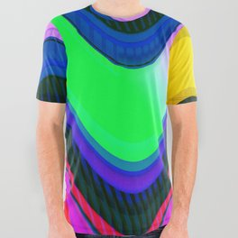 Color Wave ~077~ All Over Graphic Tee