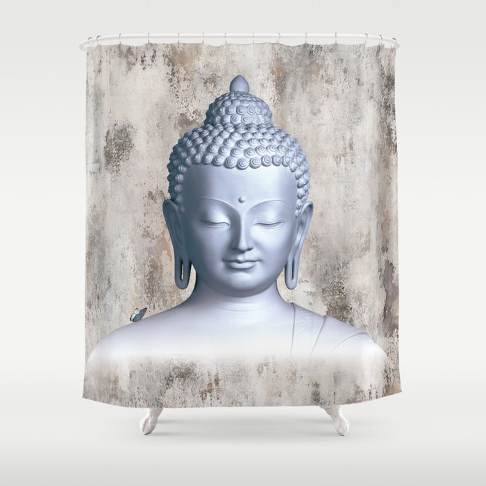 Y Inner Buddha Shower Curtain