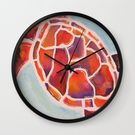 Turtle at Sunset  Wall Clock