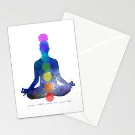 Chakra - Positive Mind, Positive Vibes, Positive Life Stationery Cards