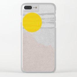 RISE & SHINE Clear iPhone Case