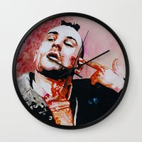 taxi driver Wall Clocks featuring Taxi driver by BaconFactory