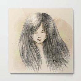 hair dreams Metal Print