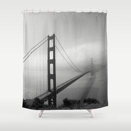 The Golden Gate Bridge In A Mist Shower Curtain