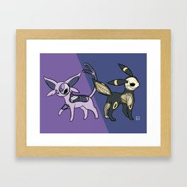 Espeon & Umbreon Anatomy Framed Art Print