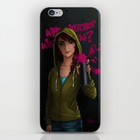 watchmen iPhone & iPod Skins featuring But who watches the watchmen? by Hiyas de Guzman