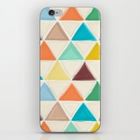 portland iPhone & iPod Skins featuring Portland triangles by Sharon Turner