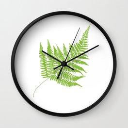 Lady Fern Illustration Botanical Print Wall Clock