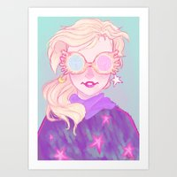luna lovegood Art Prints featuring Luna Lovegood by Thais Magnta Canha