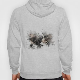 Abstract Wolf Hoody