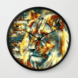 AnimalArt_Lion_20170609_by_JAMColorsSpecial Wall Clock