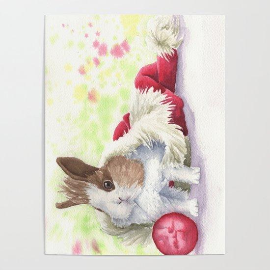 Christmas Bunny by petrinalynn