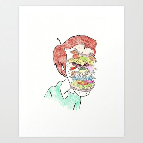 Shaggy's Sammich Art Print