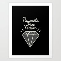 diamonds Art Prints featuring Diamonds by Alex Solis