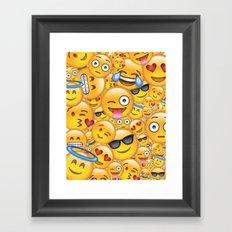 Smiley galore Framed Art Print