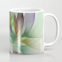 Colorful Shapes, Modern Fractals Art Coffee Mug