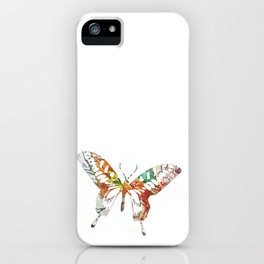Colorful butterfly fabric art iPhone Case