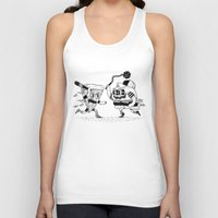 novelty Tank Tops featuring The ultimate fast food fight! by Alejandro Giraldo