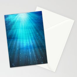 Fantasy Water Turquoise Blue Stationery Cards